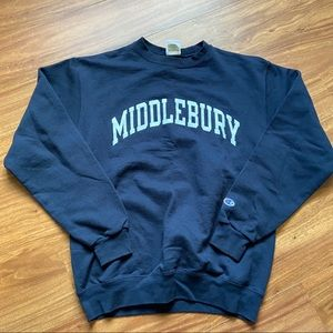 Vintage navy blue middlebury champion sweatshirt